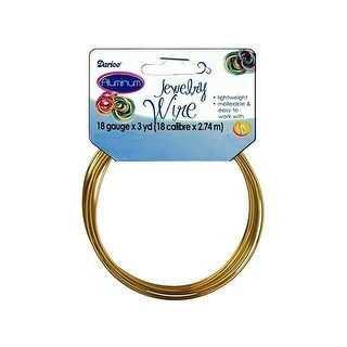 Darice Jewelry Wire Aluminum 18Ga 3yd Gold