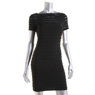Adrianna Papell Womens Petites Sheath Knee Length Cocktail Dress - 4P