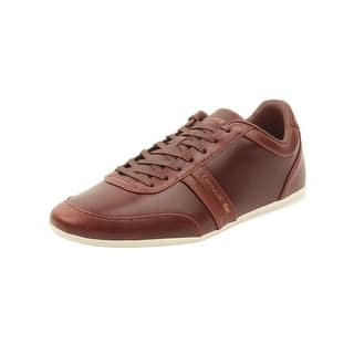 e5f17eb179800d Lacoste Men s Europa 1 Leather Sneaker Dark Brown Leather Synthetic · Quick  View