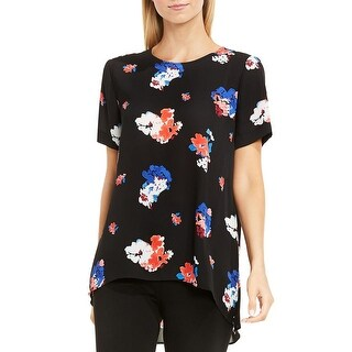 Vince Camuto Womens Casual Top Floral Print Polyester