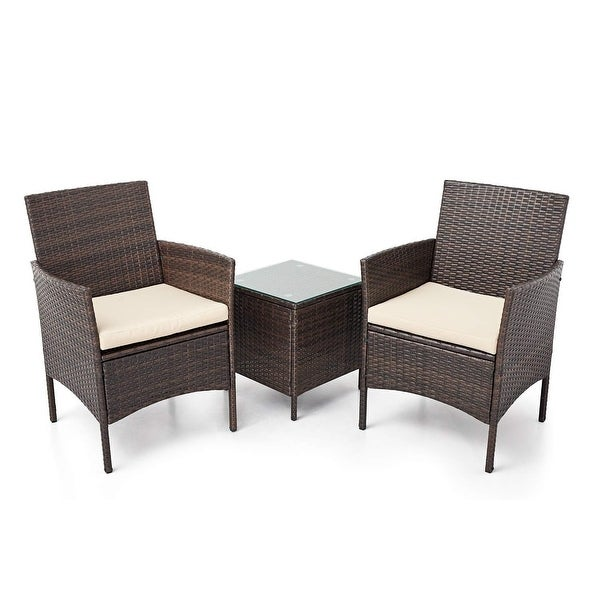Pheap Outdoor 3-piece Wicker Bistro Set by Havenside Home. Opens flyout.