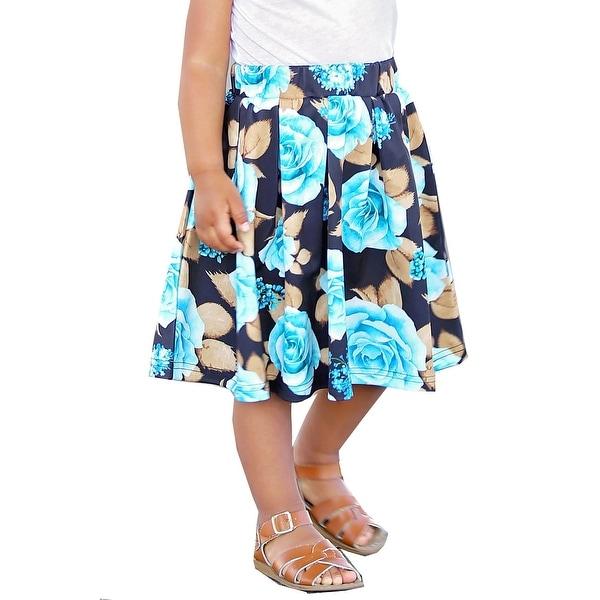 bb20a37095794 Shop Mayah Kay Girls Jade Black Colorful Floral Print Trendy Skater ...