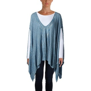 Moon & Meadow Womens Poncho Top Viscose Space Dye - o/s