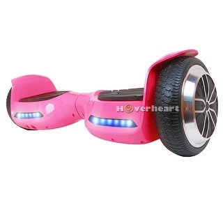 "Hoverboard Bluetooth Two-Wheel Self Balancing Electric Scooter 6.5"" UL 2272 Certified with Bluetooth Speaker LED Light (Pink)"