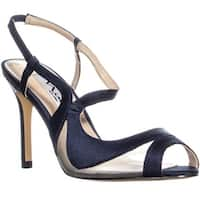 Nina Regina Slim Heel Slingback Sandals, New Navy