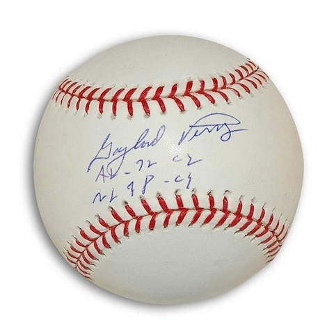 3cea5d413bd Shop Autographed Gaylord Perry MLB Baseball Inscribed