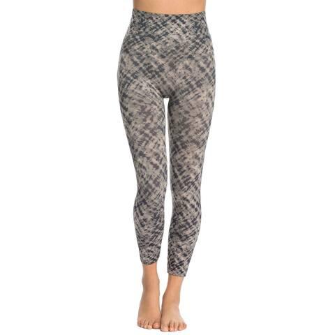 Spanx Womens Look At Me Now Cropped Printed Seamless Leggings Medium M Grey