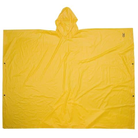 """CLC R10410 Lightweight PVC Rain Poncho, 50"""" x 80"""", Yellow"""