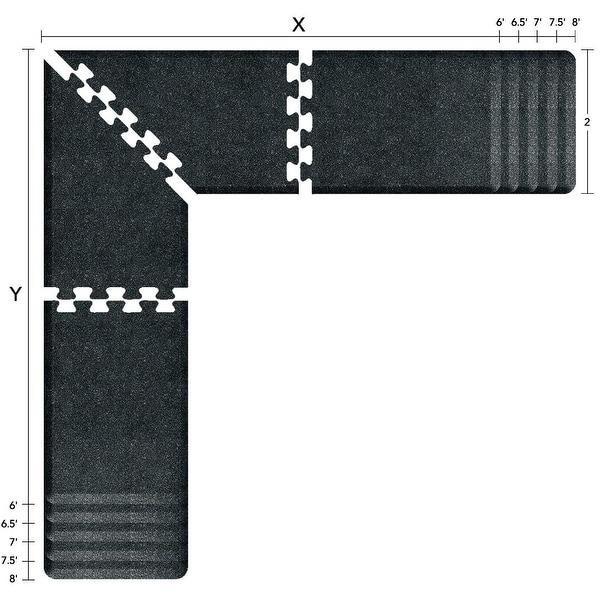 Shop WellnessMats Puzzle Piece Collection 7 X 6 X 2 Feet, 4