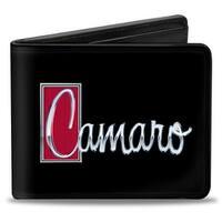 1972 Camaro Script Emblem Black Silver Reds Bi Fold Wallet - One Size Fits most