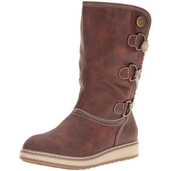 White Mountain Womens Tivia Fabric Closed Toe Mid-Calf Cold Weather Boots