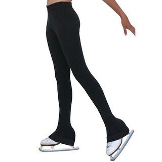 ChloeNoel Girls Solid Black Spandex Ice Skating Pants 5-12 Adult XS-XL