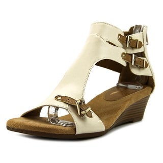 Aerosoles Yet Another Open Toe Leather Wedge Sandal
