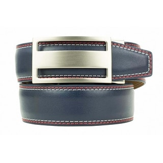 Nexbelt Heritage Classic Captain Blue Red White Smooth Leather Ratchet Golf Belt