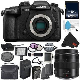 Panasonic Lumix DC-GH5 Mirrorless Micro Four Thirds Digital Camera (Body Only) + Panasonic Lumix G X Vario II Lens Bundle