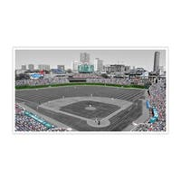 Chicago - Wrigley Field - Touch of Color Baseball Ballparks - 40x22 Canvas ToC