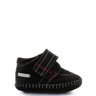 Rilo Little Boys Brown Leather Hook-And-Loop Strap Booties