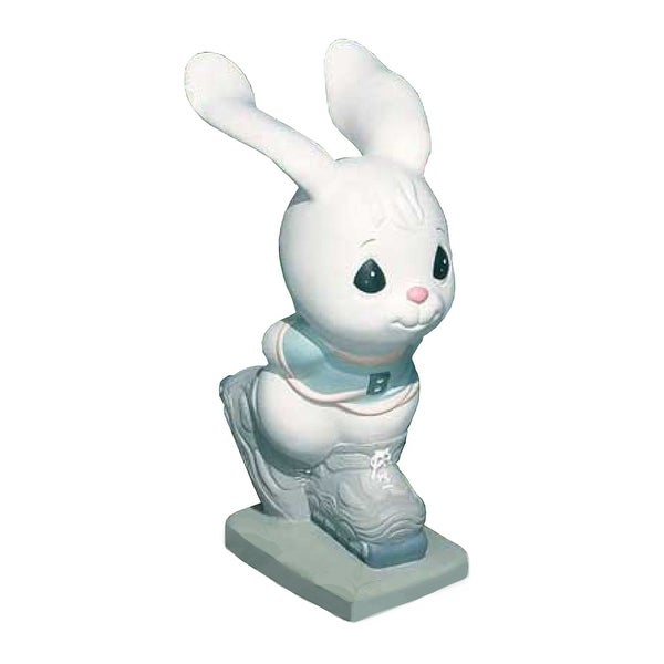 Precious Moments Skating Bunny Garden Statuary - 12.0 in. x 12.0 in. x 21.0 in.