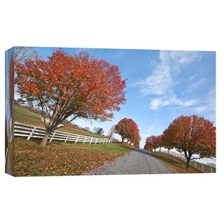"""PTM Images 9-103774  PTM Canvas Collection 8"""" x 10"""" - """"Autumn Road"""" Giclee Roads & Paths Art Print on Canvas"""
