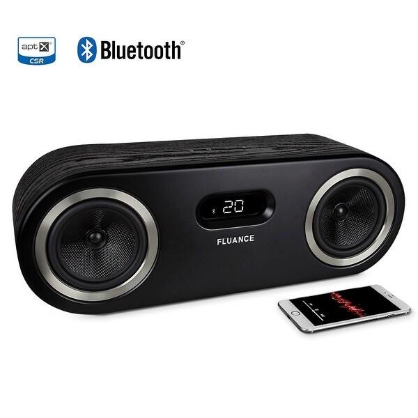 Fluance Fi50 Two-Way High Performance Wireless Bluetooth Premium Wood Speaker System with aptX Enhanced Audio