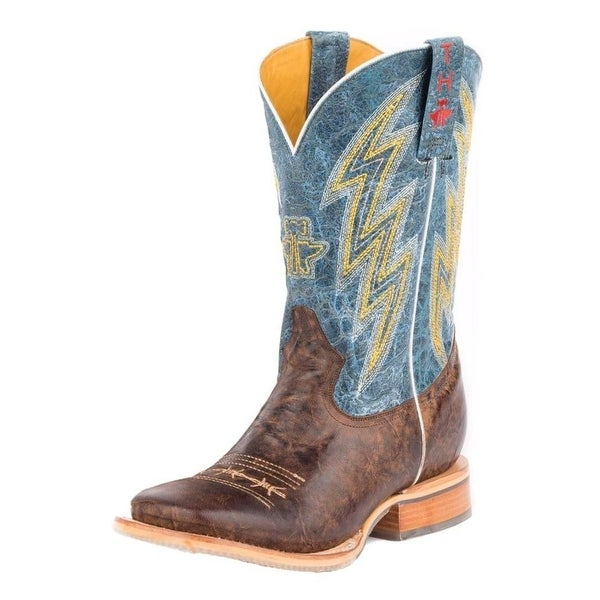 Tin Haul Western Boot Men Spiky Wire Brown