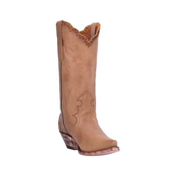"Dan Post Western Boots Womens Denise Snip Toe 12"" Shaft"