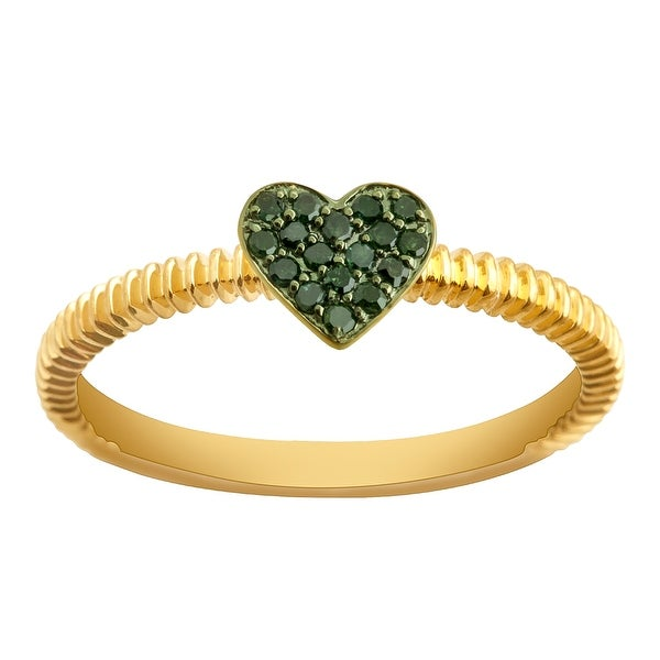 Prism Jewel Round Green Diamond Heart Shaped Valentine Ring