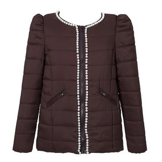 Richie House Girls' Winter Jacket with Pearls