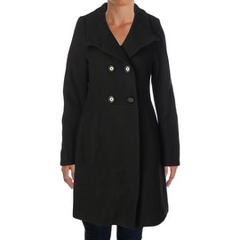 Elie Tahari Womens Pina Wool Double-Breasted Military Jacket