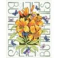 Bucilla Butterflies Stamped Cross Stitch Kit - Orange - 17' x 13-1/2' - Thumbnail 0