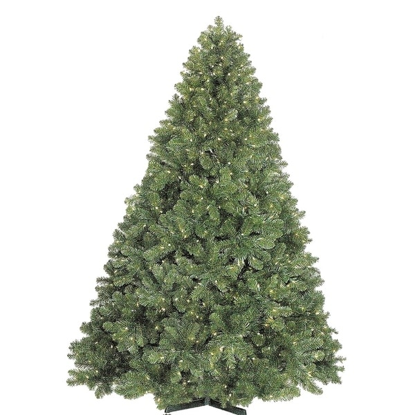 Christmas at Winterland WL-TRNAT-09-LWW 9 Foot Natural Looking Pre-Lit Christmas Tree with Warm White Lights and Metal Stand