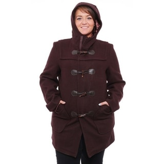 Schott N.Y.C  Toggle and Zipper Coat Basic Coat Brown