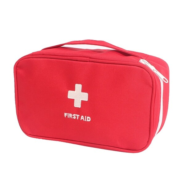 Outdoor Sport Camping Hiking Medic Emergency First Aid Empty Kit Storage Bag Red