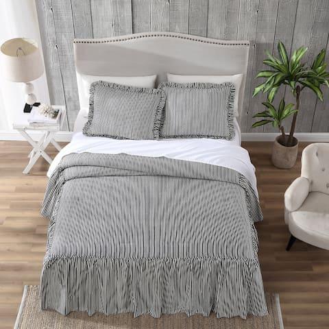 Ticking Stripe Bedspread Set