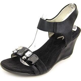 Anne Klein Sport Larow Women  Open Toe Canvas  Wedge Sandal