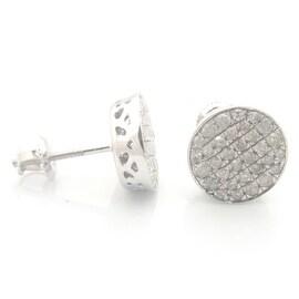 Fabulous 0.52 Carat Natural Round Brilliant Cut Diamond Screw Back Cluster Earring
