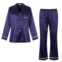 Richie House Women's Satin Two-piece Set Pajama Sleepwear