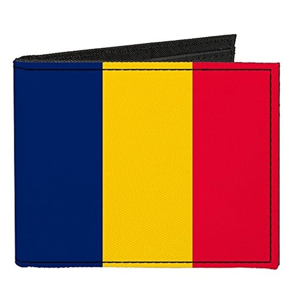 Buckle-Down Canvas Bi-fold Wallet - Chad Flag Accessory
