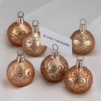 Club Pack of 72 Gold Glass Ball Christmas Ornament Shaped Place Card Holders