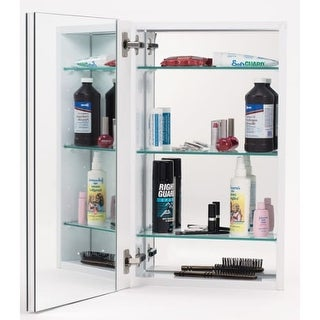 Alno MC10244 1000 Series 15  x 25  Single Door Recessed Medicine Cabinet with White  sc 1 st  Overstock.com & Shop Alno MC4550 Reflections 15
