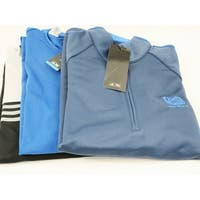 Adidas 3 Pack 1/4 Zip Pullover Medium Blue and Gray Logo Overuns Limited Edition