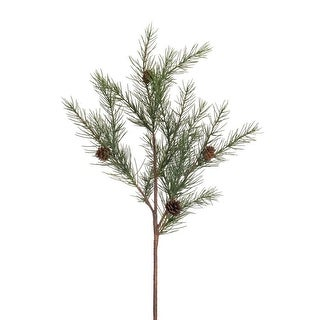 Club Pack of 12 Long Needle and Pine Cone Artificial Christmas Sprays 22