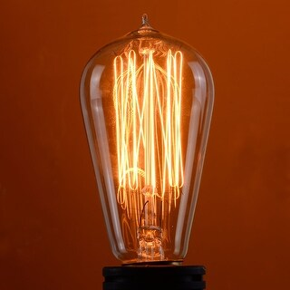Costway 4 Pack 110V 60W Light Bulb Squirrel Cage Filament E26 Base Vintage Retro Edison - Clear