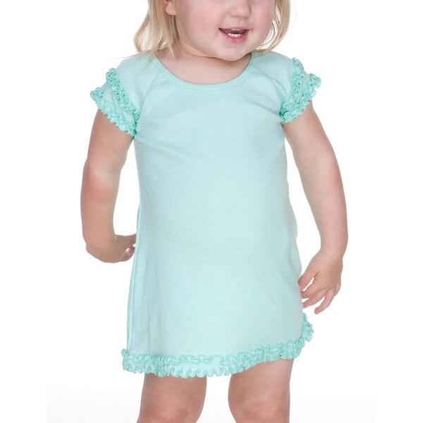 Kavio! Infants Lettuce Edge Raglan Cap Sleeve Dress
