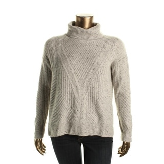 Private Label Womens Cashmere Neps Turtleneck Sweater