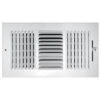 "Truaire C103M 12X04 3-Way Sidewall Ceiling Register, 12"" x 4"""