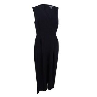 Nine West Women's Cropped Jumpsuit - Black