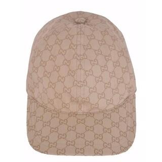 Gucci Men's 387561 Beige GG Guccissima Web Stripe Baseball Cap Hat XL 60 CM