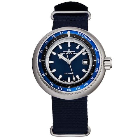 Zeno Men's 500-2824-I1M 'Divers' Blue Dial Blue Fabric Strap Automatic Watch