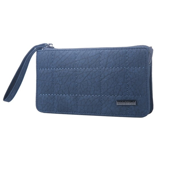 Mad Style Navy 3 Compartment Phone Wristlet